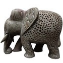 Soapstone Undercut Elephant Sculpture
