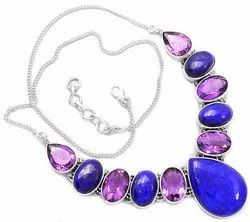 92.5 Amethyst with Lapic Necklaces