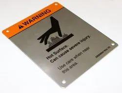 SS Die Cutting Metal Nameplates