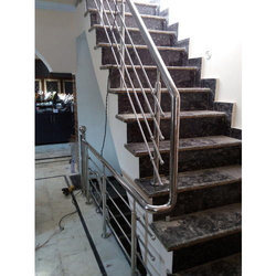 Nice Ss Designer Stair Round Pipe At Rs 175 /square Feet | Stainless Steel Round  Tube | ID: 14994877788