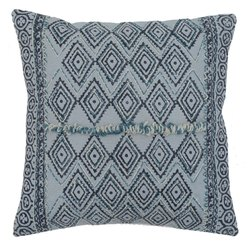 Embroidered Diamond Pattern Cotton Cushion Cover