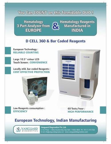 D Cell 360 Diagon Hematology Analyzer, Application: Clinical