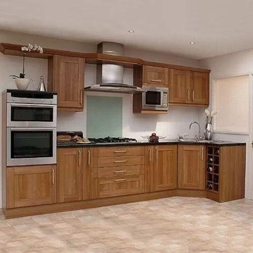 Commercial Wooden Modular Kitchen, Warranty: 10-15 Years