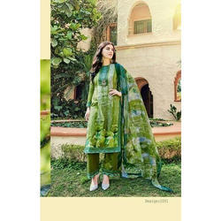 Chiffon Karachi Suit, Size: S, M and L