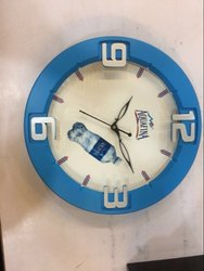 Blue Plastic Round Shaped Wall Clock