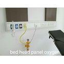 White Mild Steel Hospital Oxygen Bed Head Panel