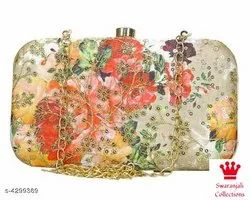 Printed Embroidered Ladies Designer Clutches