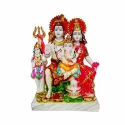 Marble Shiv Parivar Statue