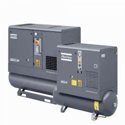 Atlas Copco 5 HP - 200 HP USED COMPRESSOR, Discharge Pressure: 7-10 Bar, Model Name/Number: GA22