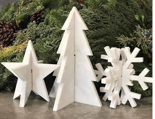 Stone Christmas decorations