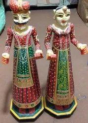 Rajasthani Puppets and dandiyaa item