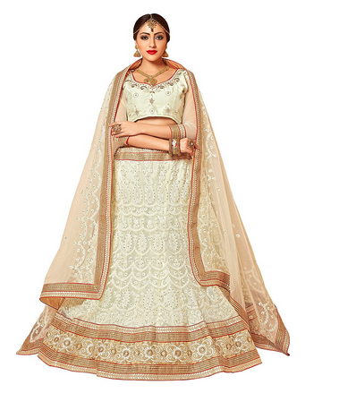 ba8c191cdd1 Aasvaa Stylish White Embroider Lehenga Choli