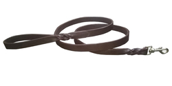 Leather Dog Lead Genuine Leather Leash With Knotted Handle