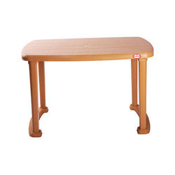 Brown Rectangular Plastic Dinning Table