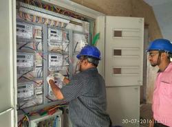 single phase three phase board wiring of energy meter rooms id rh indiamart com meter board wiring diagram
