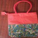 """Loop Handle Printed Jute Bag (kalamkari Model), Size: 7"""" X 7"""", Capacity: 2-3 Kg"""