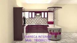 PVC U Shape Luxury Modular Kitchen