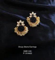 Druzy Flower Earrings