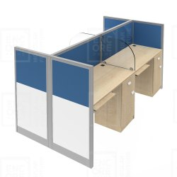 Workstations With Glass Partition