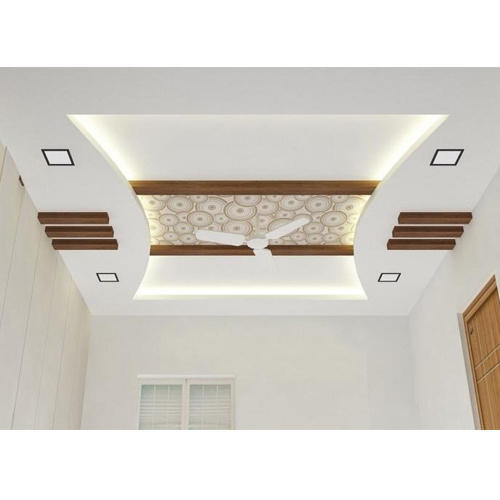 White Galvanised Pop False Ceiling For Office In Indore Rs 48 Feet Id 11605902562