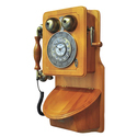Retro Themed American Style Heritage Wall Mount Telephone