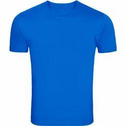 Mens Cotton Blue Plain T-Shirt, Size: S to XL