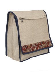 Husamsons Shoulder Bag Jute Kalamkari Side Bags, 600gms, Capacity: 14 L