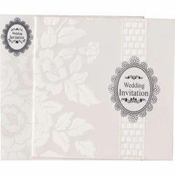Gloss Paper Fancy Muslim Wedding Card