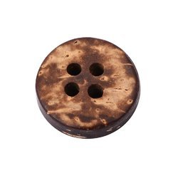 Coconut Round Button