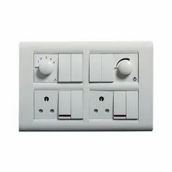 White ABB Modular Switches, 220 V