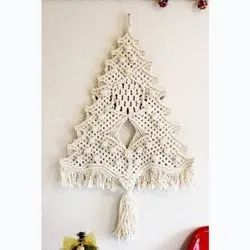Macrame Christmas Tree Ornament Unique Handmade Decor