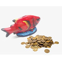 Orange Fish Model Coin Bank