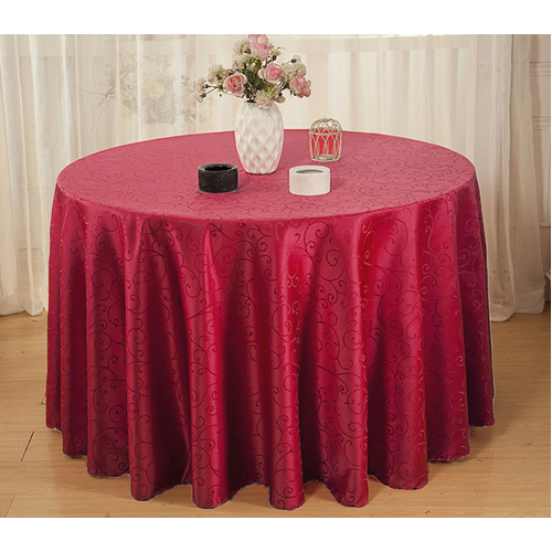 Maroon Plain Round Table Cover Rs 250, Round Table Cover