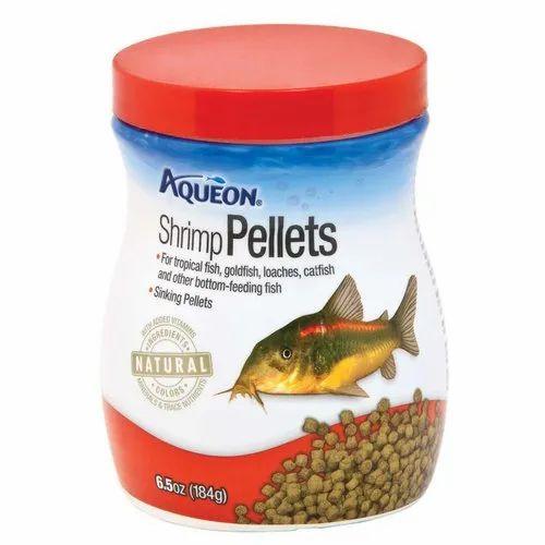 Aqueon Shrimp Pellets Fish Food, Pack Size: 184 G, Packaging Type: Plastic Jar