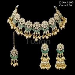 Meenakari Kundan Wedding Necklace Set
