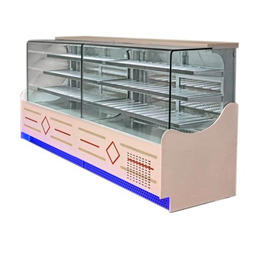 Stainless Steel And Glass Rectangular 5 Feet Sweet Display Counters