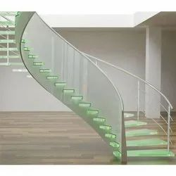 Glass Staircase for Commercial and Residential