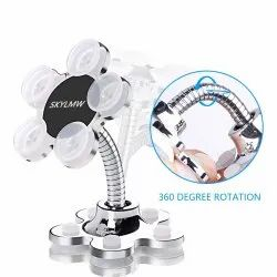 CQLEK VIP Sucker Mobile Phone Stand Portable Multi Angel Metallic with Flower Suction Cup
