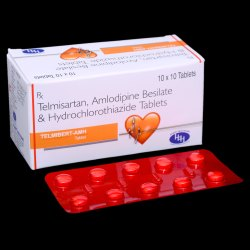 Telmisartan 40mg,Amlodipine Besilate 5mg & Hydrochlorthiazide 12.5mg Tablets