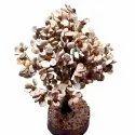 Gomti Chakra Tree with Beads Rudraksha (White and Brown)
