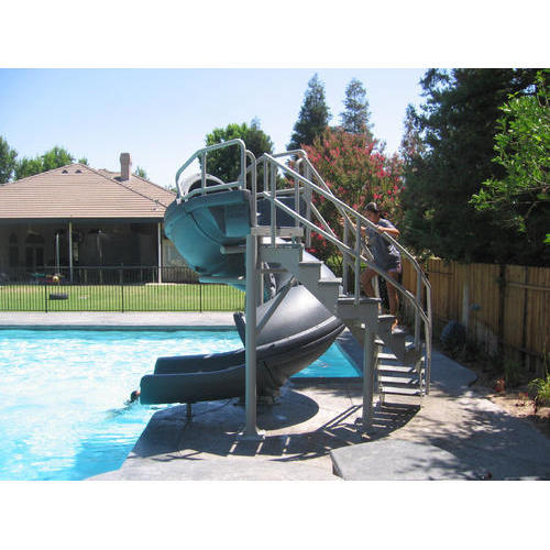 Outdoor pool with slide  Swimming Pool Slide, Size: 5-8 Feet, Rs 5000 /piece, Krishna ...