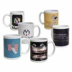 Ceramic Logo Printed Sublimation Coffee Mug, Packaging Type: Box, 300 Ml