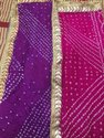 Silk Bandhej Gotta Patti Dupatta