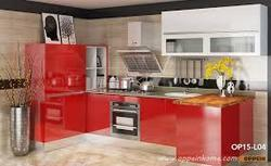 Residential Acrylic Modular Kitchen, Warranty: 5 Years