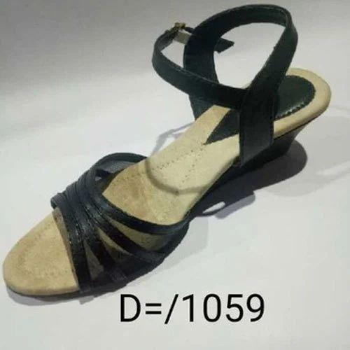 37c4a6aa96aab Ladies Black Leather Sandal