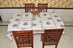 Multicolor Lucky Handicraft Table Cover Napkin Set, Size: 150*220 Cm
