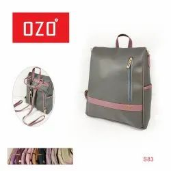 OZO Pu Leather Girls College Bags, For Casual Backpack