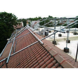 Solar Panel Pole Mounting Structure