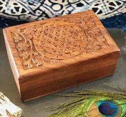 Engraved,Carving Wood Custom Box, Box Capacity: 1-200 Kg