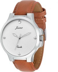 JAINX Quartz Movement Analogue White Dial Men's Watch JM218
